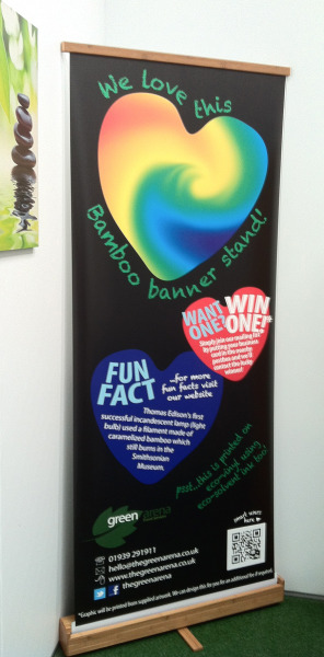 Run a Shropshire Business?  Win an eco friendly banner stand printed in your branding.........