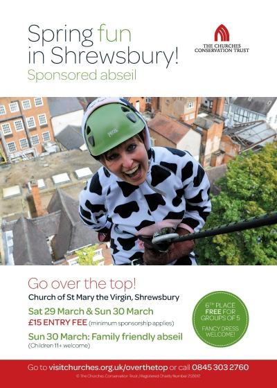 Churches Conservation Trust, Sponsored Abseil Event.
